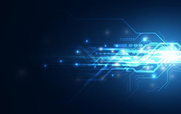 Streszczenie prędkości linii obliczeniowej sieci sci fi innowacyjna koncepcja tło