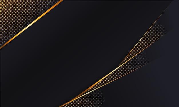 Streszczenie premium czarne tło z brokatem. kształt ukośny.