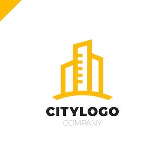Streszczenie projektowanie logo miasta budynku