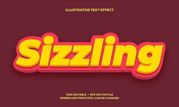 Streszczenie projektu efektu tekstowego żółty i czerwony
