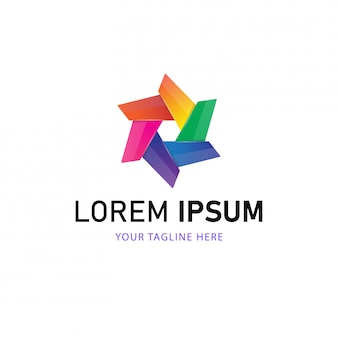 Streszczenie projektu logo. kolorowy styl logo
