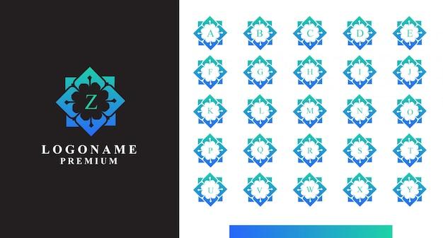 Streszczenie projektu logo litery od a do z.