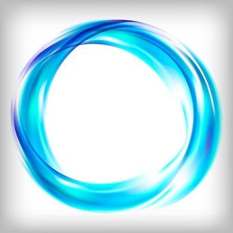 Streszczenie projektu logo na niebiesko