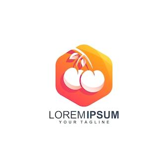 Streszczenie projektu logo wiśni