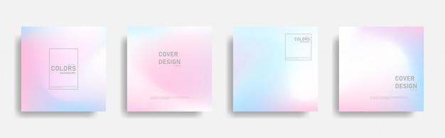 Streszczenie projektu okładki gradientu w dowolnym kształcie. gładkie kolorowe tła.