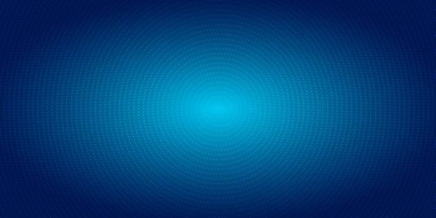 Streszczenie promieniowe kropki wzór półtonów niebieskie tło