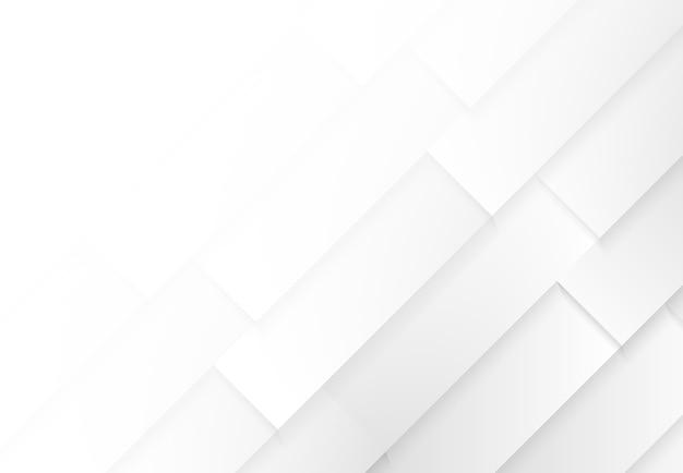Streszczenie prostokąt gradientowy biały i szary wzór na białym tle.