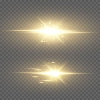Streszczenie przezroczyste światło słoneczne specjalny efekt świetlny flary.