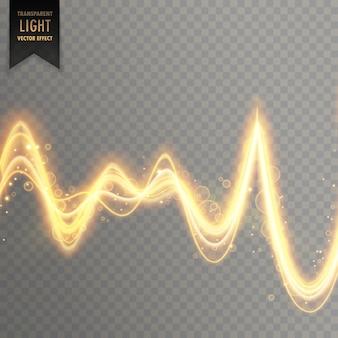 Streszczenie przezroczysty efekt świetlny w stylu fali dźwiękowej