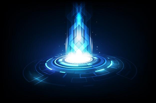 Streszczenie przyszłości technologii, tło telekomunikacji elektrycznej