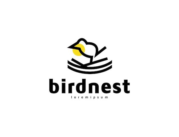 Streszczenie ptasie gniazdo kultowy projekt logo