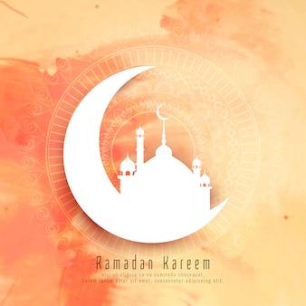 Streszczenie Ramadan Kareem elegancki tło