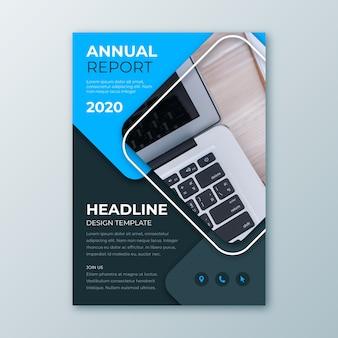 Streszczenie raportu rocznego szablon z obrazem