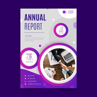 Streszczenie raportu rocznego szablon ze zdjęciem