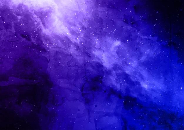 Streszczenie ręcznie malowane akwarelowe tło galaktyki kosmicznej