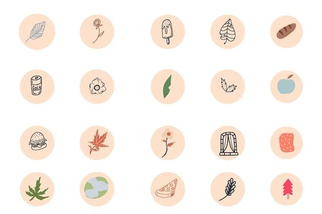 Streszczenie ręcznie rysowane instagram podkreśla okładkę