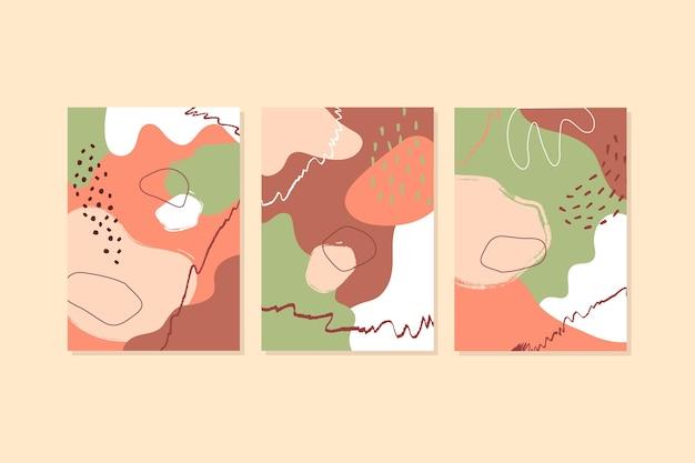 Streszczenie ręcznie rysowane kształty obejmuje opakowanie