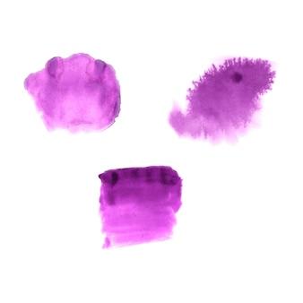 Streszczenie ręcznie rysowane plamami akwarela