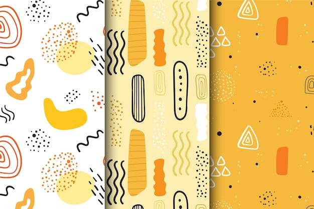 Streszczenie ręcznie rysowane wzór paczki