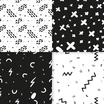 Streszczenie ręcznie rysowane wzór zestaw