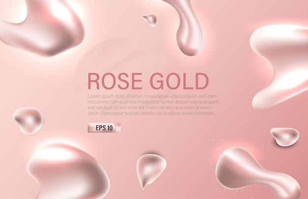 Streszczenie rosegold style element ilustracji wektorowych