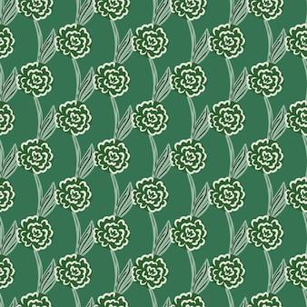 Streszczenie róże geometryczne sylwetki wzór w stylu bazgroły. letni nadruk sezonowy. projekt wektor dla tekstyliów, tkanin, prezentów, tapet.