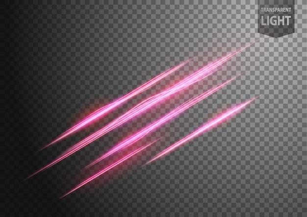 Streszczenie różowa falista linia światła