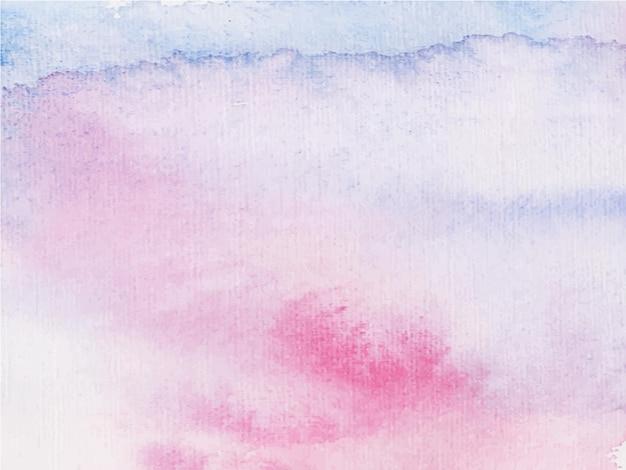 Streszczenie różowe fioletowe tło akwarela. to jest wyciągnięta ręka.