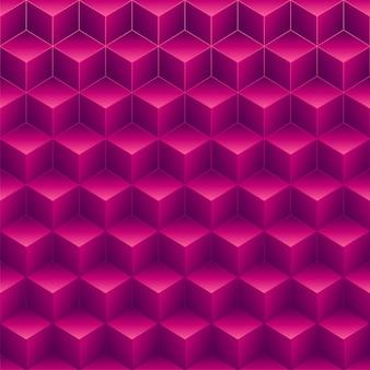 Streszczenie różowe sześciany 3d wzór tła.