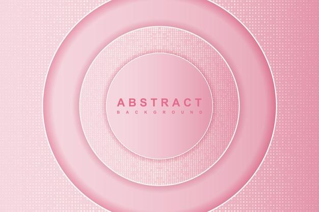 Streszczenie różowe tło warstwy koła z błyskotkami