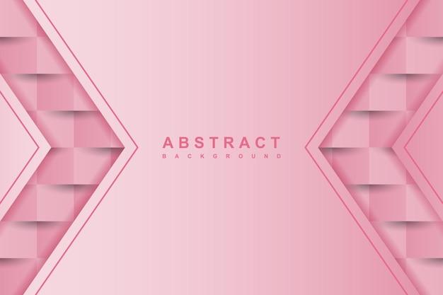 Streszczenie różowe tło z 3d papierowym stylem sztuki