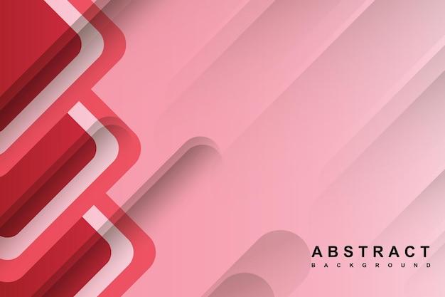 Streszczenie różowe tło z geometrycznym kształtem