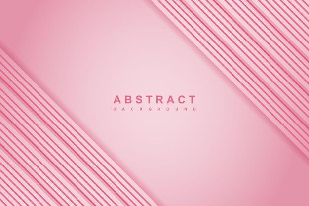 Streszczenie różowe tło z ukośnymi liniami i stylem papercut