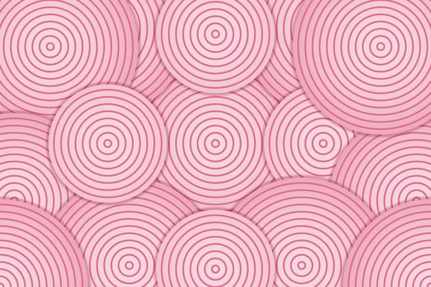 Streszczenie różowe tło z warstwą koła