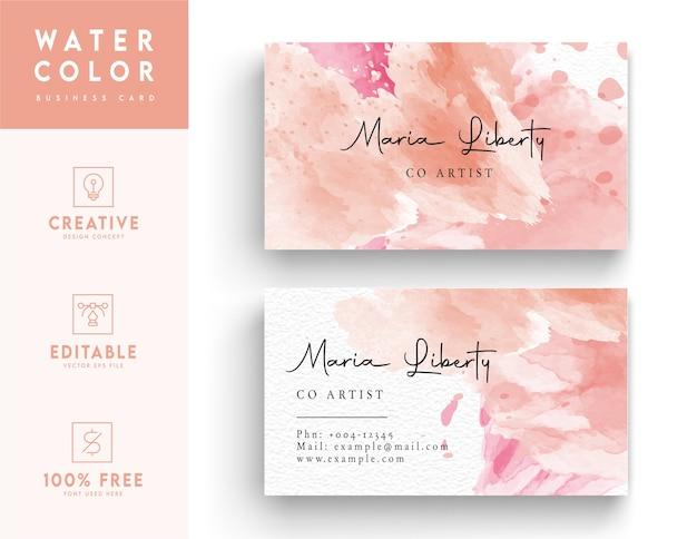 Streszczenie różowy i biały szablon wizytówki
