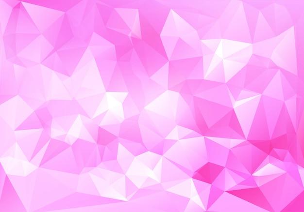 Streszczenie różowy niskiej wielokąta tło