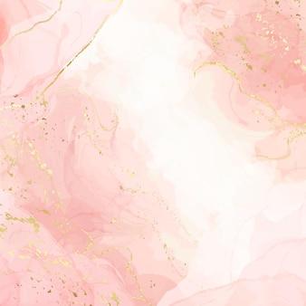 Streszczenie różowy płynne tło akwarela ilustracja