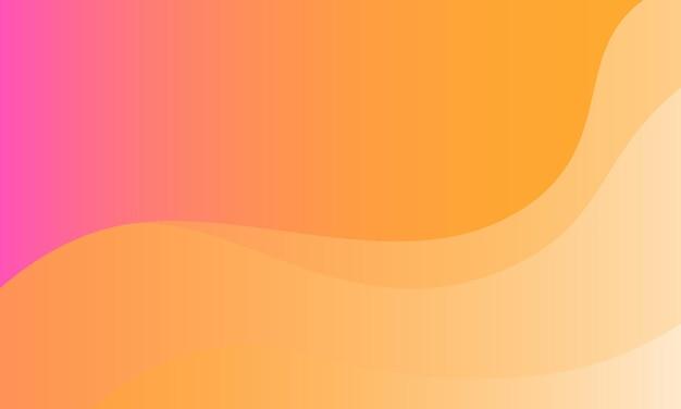 Streszczenie różowy żółty i biały gradient fala tła. nowoczesny szablon strony docelowej.