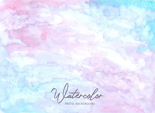 Streszczenie różowym niebieskim tle akwarela