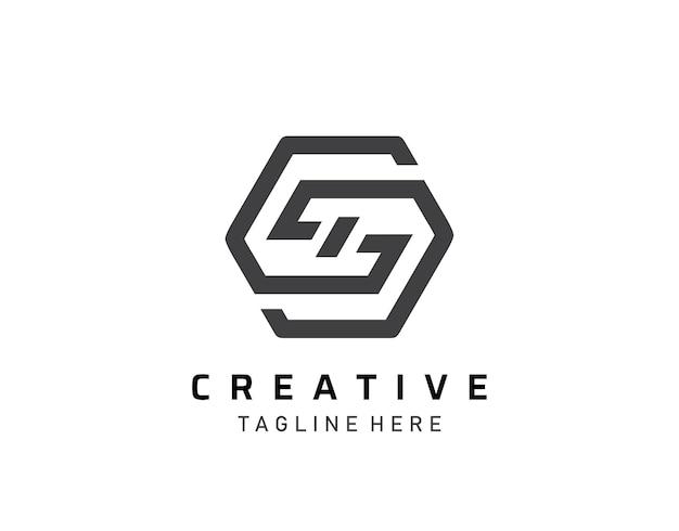 Streszczenie s, g, gd list ikona logo design