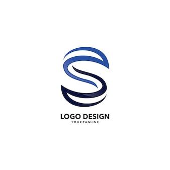 Streszczenie s list logo firmy szablon wektor