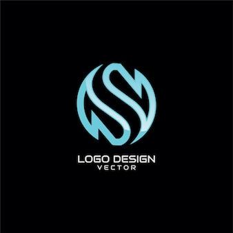 Streszczenie s symbol logo szablon wektor
