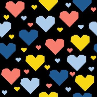 Streszczenie serce ręcznie wzór tła. dziecinna, ręcznie robiona tapeta na projekt kartki ślubnej, zaproszenia na walentynki, albumu miłosnego, papieru do pakowania wakacji, nadruku na torbie, koszulki itp.