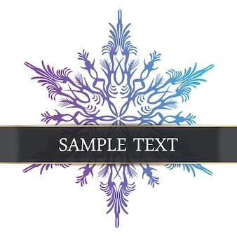 Streszczenie śnieżynka ilustracja karta. kreatywny i luksusowy obraz powitalny w stylu gradientu