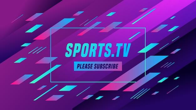 Streszczenie sportowa grafika kanału youtube