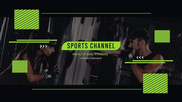 Streszczenie sportowa grafika na kanale youtube