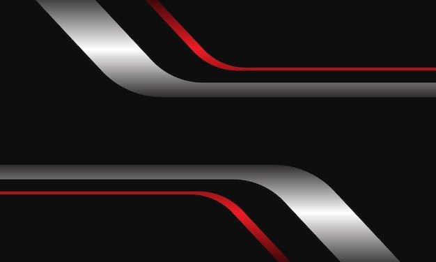 Streszczenie srebrny czerwony czarny geometryczny z pustą przestrzenią nowoczesny luksusowy futurystyczny tło