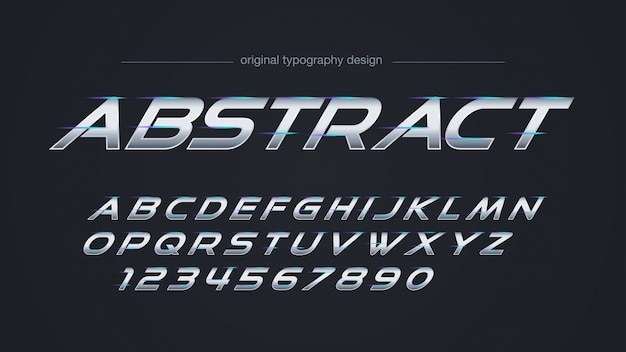 Streszczenie stalowa linia światła typografia design