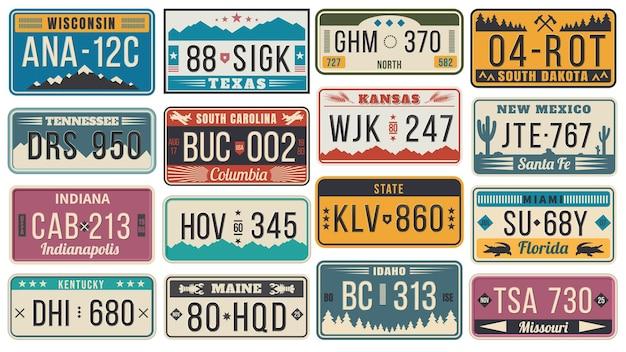 Streszczenie stany zjednoczone tablice rejestracyjne.