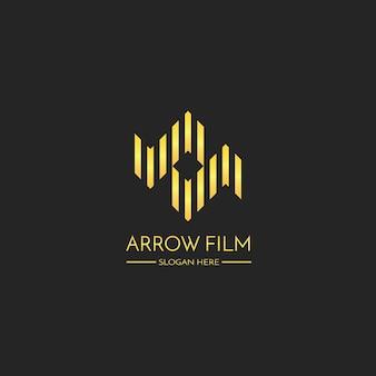Streszczenie strzałki i podwójne litery s koncepcji logo